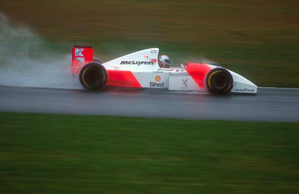 1993 European Grand Prix. Donington Park, England. 9-11 April 1993. Michael Andretti (McLaren MP4/8 Ford). Ref-93 EUR 44. World Copyright - LAT Photographic