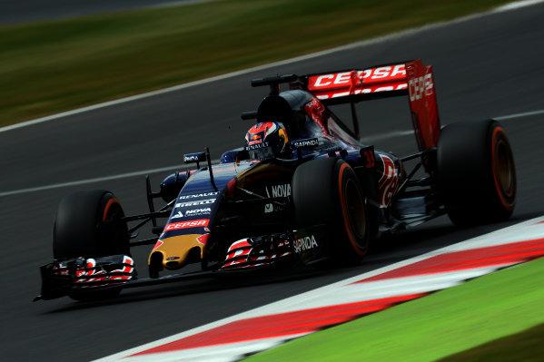 Max Verstappen (NED) Scuderia Toro Rosso STR10 at Formula One World Championship, Rd9, British Grand Prix, Qualifying, Silverstone, England, Saturday 4 July 2015.