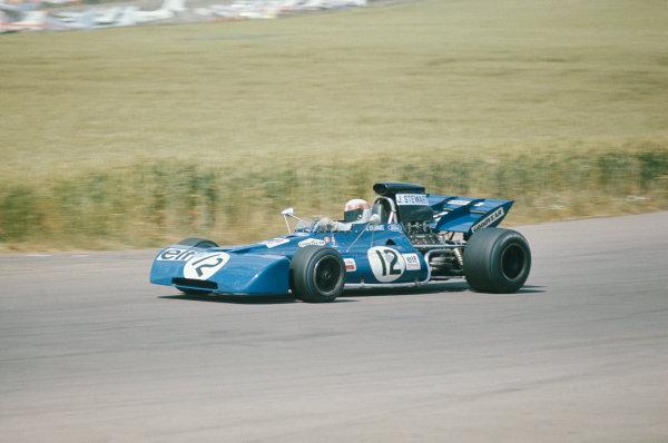 1971 British Grand Prix.  Silverstone, England. 15-17th July 1971.  Jackie Stewart, Tyrrell 003 Ford, 1st position.  Ref: 71GB04. World Copyright: LAT Photographic