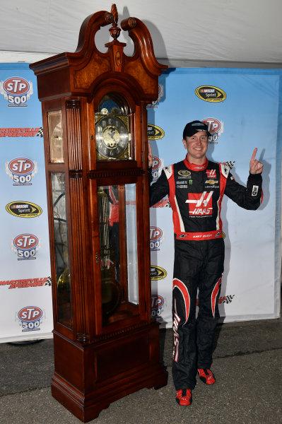 28-30 March, 2014, Martinsville, Virginia USA Kurt Busch celebrates his win in Victory Lane © 2014, Nigel Kinrade LAT Photo USA