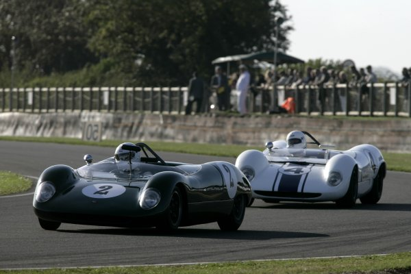 2006 Goodwood Revival Meeting. Goodwood, West Sussex. 2nd - 3rd September 2006 Madgewick Cup.Brian Wilson leads Brendan Roberts.World Copyright: Gary Hawkins/LAT Photographic ref: Digital Image Only