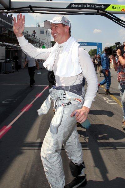 Ralf Schumacher (GER), Laureus AMG Mercedes took Pole Position.DTM, Rd4, Norisring, Nuremberg, Germany. 2-4 July 2010 World Copyright: LAT PhotographicRef: Digital Image dne1003jy92