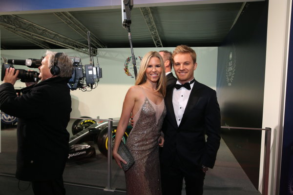 2016 FIA Prize Giving Vienna, Austria Friday 2nd December 2016 Nico Rosberg with wife Vivian. Photo: Copyright Free FOR EDITORIAL USE ONLY. Mandatory Credit: FIA ref: 30570209963_2d6579f8bb_o