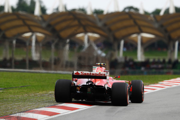 Sepang International Circuit, Sepang, Malaysia. Saturday 30 September 2017. Kimi Raikkonen, Ferrari SF70H.  World Copyright: Steven Tee/LAT Images  ref: Digital Image _O3I2608
