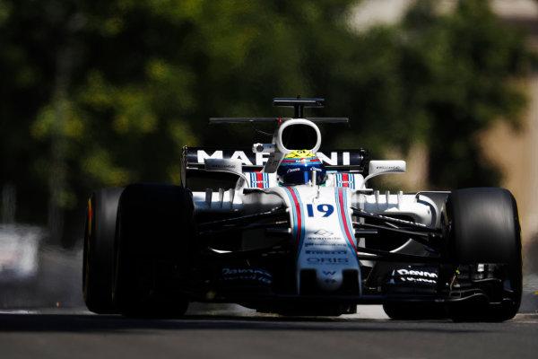 Baku City Circuit, Baku, Azerbaijan. Friday 23 June 2017. Felipe Massa, Williams FW40 Mercedes.  World Copyright: Glenn Dunbar/LAT Images ref: Digital Image _X4I9485