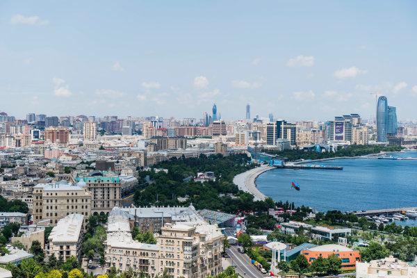Baku City Circuit, Baku, Azerbaijan. Wednesday 21 June 2017. A view of the city from Dagustu (Upland) Park. World Copyright: Glenn Dunbar/LAT Images ref: Digital Image DSC01358