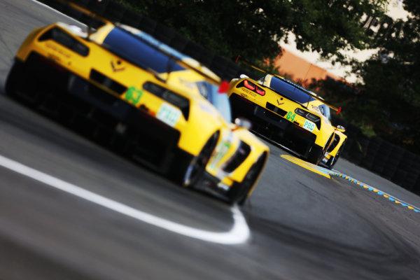 2017 Le Mans 24 Hours Circuit de la Sarthe, Le Mans, France. Wednesday 14 June 2017 #64 Corvette Racing-GM Chevrolet Corvette C7.R: Oliver Gavin, Tommy Milner, Marcel Fassler  World Copyright: JEP/LAT Images