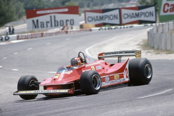 1980 French Grand Prix.Paul Ricard, France. 27-29 June 1980.Gilles Villeneuve (Ferrari 312T5), 8th position.World Copyright: LAT PhotographicRef: 35mm transparency 80FRA03