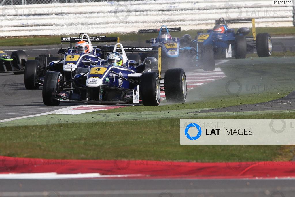 2013 FIA F3 European Championship, Silverstone, Northamptonshire. 12th - 14th April 2013. Jordan King (GBR) Carlin Dallara Volkswagen World Copyright: Ebrey / LAT Photographic.