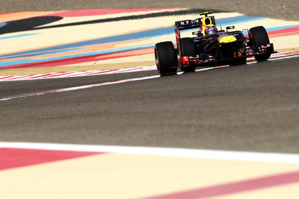 Bahrain International Circuit, Sakhir, Bahrain Sunday 21st April 2013 Mark Webber, Red Bull RB9 Renault.  World Copyright: Andy Hone/LAT Photographic ref: Digital Image HONY1217
