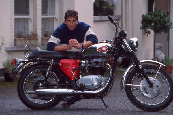 Damon Hill with his Motorbike.Formula One Drivers At Home