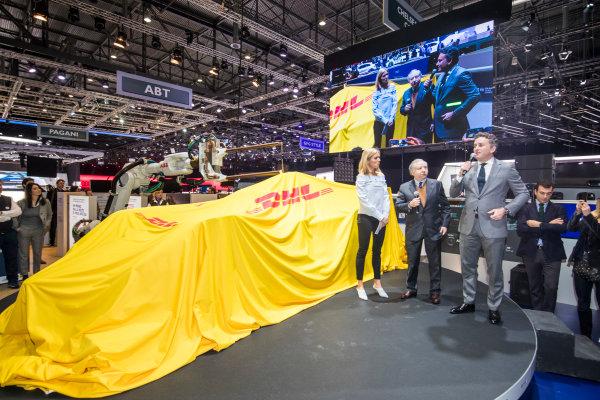 2017/2018 FIA Formula E Championship. Geneva Motor Show Tuesday 6 March 2018. The FIA Formula-E Gen2 car is unveiled. Photo: Sam Bloxham/LAT/Formula E ref: Digital Image _W6I3762
