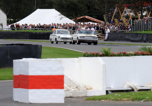 2015 Goodwood Revival Meeting Goodwood Estate, West Sussex, England 11th - 13th September 2015 St Mary's Trophy Part 2 Henry Mann Ford Fairlane Thunderbolt World Copyright : Jeff Bloxham/LAT Photographic Ref : Digital Image DSC_0252