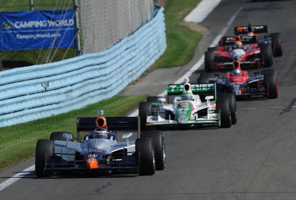 2-4 July, 2010, Watkins Glen, New York USA#32 KV Racing Technology's Mario Moraes followed by Kanaan Andretti, Wilson and Carol.©2010, Dan R. Boyd, USA LAT Photographic.