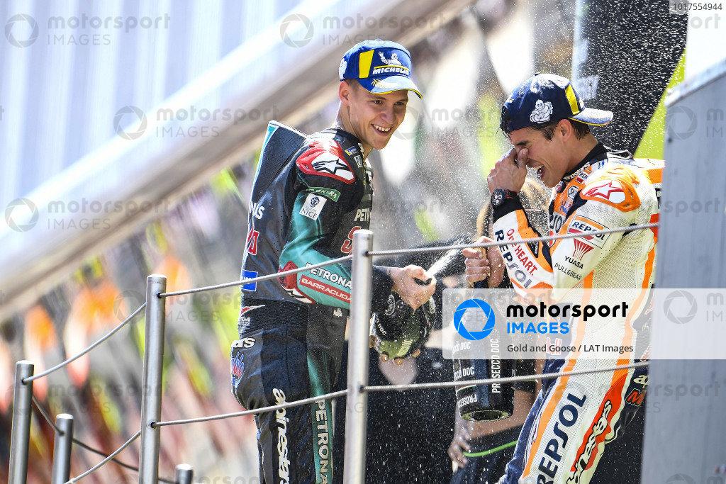 Fabio Quartararo, Petronas Yamaha SRT, Marc Marquez, Repsol Honda Team.