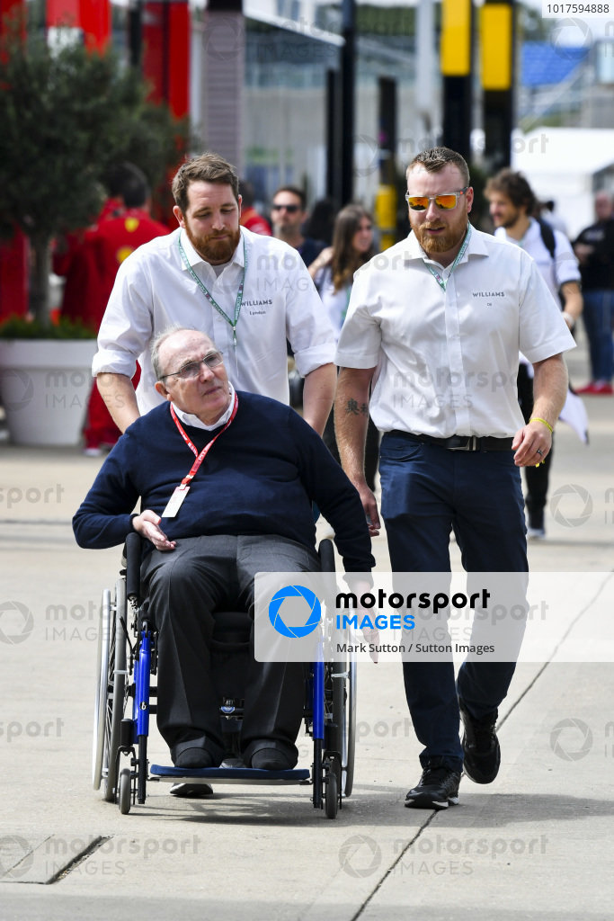 Sir Frank Wiliams, Team Principal, Williams Racing in the paddock
