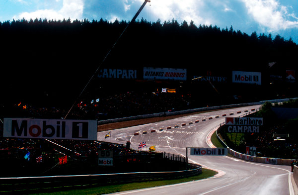 1994 Belgian Grand Prix.Spa-Francorchamps, Belgian.26-28 August 1994.Due to recent safety issues the Grand Prix Drivers Association decided that the run-off areas for Eau Rouge were insufficient, so a chicane was placed there for the weekend. This only being a temporary alternative until changes could be made for next year.Ref-94 BEL 01.World Copyright - LAT Photographic