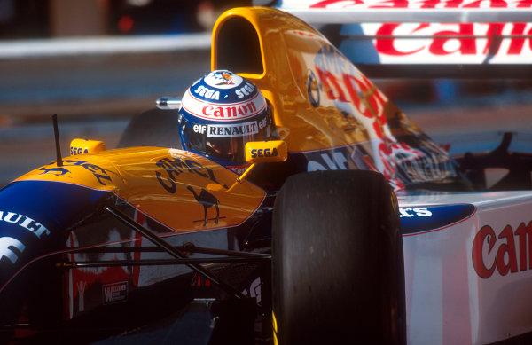 1993 Monaco Grand Prix.Monte Carlo, Monaco.20-23 May 1993.Alain Prost (Williams FW15C Renault) 4th position.Ref-93 MON 06.World Copyright - LAT Photographic