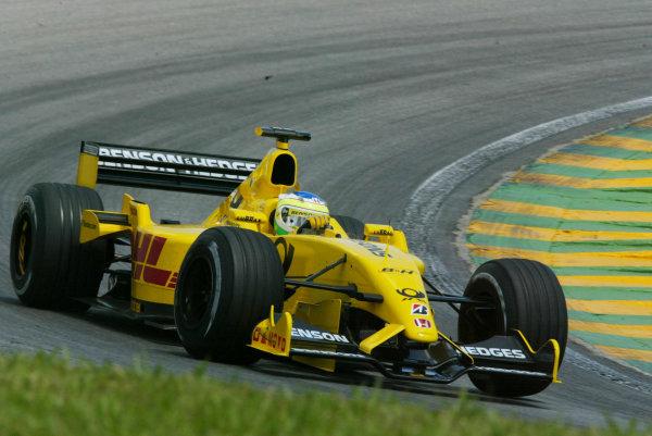 2002 Brazilian Grand Prix - Friday PracticeInterlagoes, Sao Paulo. 29th March 2002Giancarlo Fisichella (Jordan EJ12 Honda). World Copyright - LAT Photographicref: Digital File Only