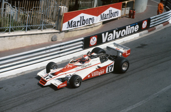 Monte Carlo, Monaco. 7 May 1978.Clay Regazzoni (Shadow DN9 Ford), DNQ, action.World Copyright: LAT Photographicref: 35mm Transparency Image