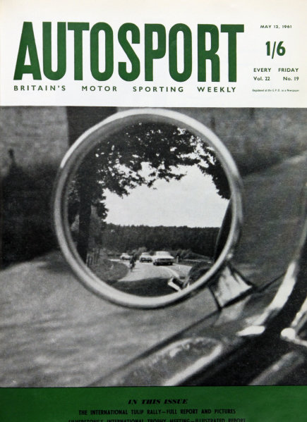 Cover of Autosport magazine, 12th May 1961