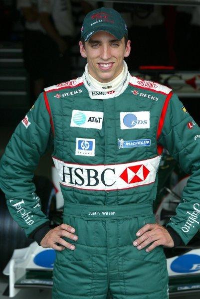 Justin Wilson (GBR) Jaguar.Formula One World Championship, Rd12, German Grand Prix, Preparations, Hockenheim, Germany, 31 July 2003.DIGITAL IMAGE