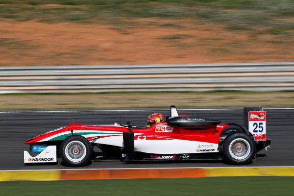 2015 FIA Formula 3 European Championship Testing. Circuit de Valencia, Valencia, Spain. Tuesday 17 March 2015. 25 Lance Stroll (CAN, Prema Powerteam, Dallara F312 – Mercedes-Benz) Photo: FIA F3 (Copyright Free For Editorial Use Only)