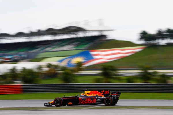 Sepang International Circuit, Sepang, Malaysia. Saturday 30 September 2017. Max Verstappen, Red Bull Racing RB13 TAG Heuer.  World Copyright: Steven Tee/LAT Images  ref: Digital Image _R3I3976