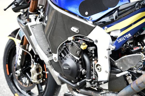 2017 Moto2 Championship - Round 16 Phillip Island, Australia. Thursday 19 October 2017 Xavi Vierge, Tech 3 Racing bike detail World Copyright: Gold and Goose / LAT Images ref: Digital Image 698228