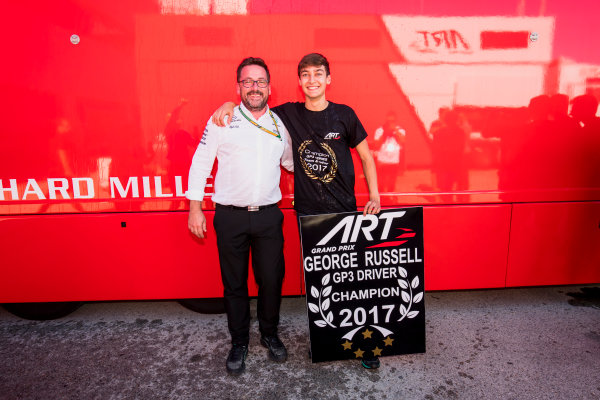 2017 GP3 Series Round 7.  Circuito de Jerez, Jerez, Spain. Sunday 8 October 2017. George Russell (GBR, ART Grand Prix).  Photo: Zak Mauger/GP3 Series Media Service. ref: Digital Image _56I7508