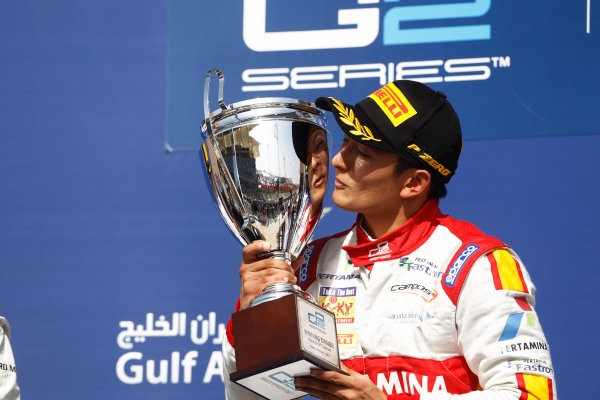 2015 GP2 Series Round 1 - Bahrain International Circuit, Bahrain. Sunday 19 April 2015. Rio Haryanto (INA, Campos Racing)  Photo: Sam Bloxham/GP2 Series Media Service. ref: Digital Image _G7C8951