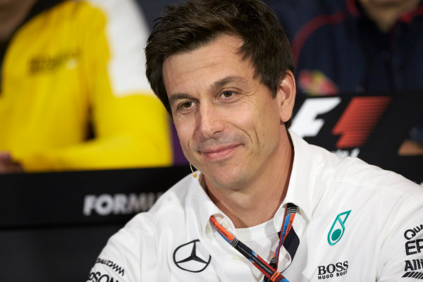Monte Carlo, Monaco. Thursday 21 May 2015. Toto Wolff, Executive Director (Business), Mercedes AMG, in the team principals Press Conference. World Copyright: Steve Etherington/LAT Photographic. ref: Digital Image SNE15305