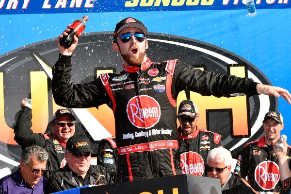 25-26 September, 2015, Loudon, New Hampshire USA Austin Dillon celebrates his win in Victory Lane ? 2015, Nigel Kinrade LAT Photo USA