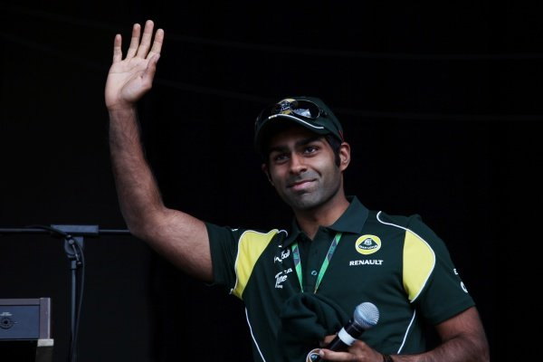 Karun Chandhok (IND) Team Lotus T128 Reserve Driver at the post race concert. Formula One World Championship, Rd 9, British Grand Prix, Race, Silverstone, England, Sunday 10 July 2011.
