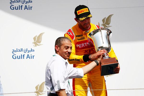 2017 FIA Formula 2 Round 1. Bahrain International Circuit, Sakhir, Bahrain.  Saturday 15 April 2017. Norman Nato (FRA, Pertamina Arden)  Photo: Zak Mauger/FIA Formula 2. ref: Digital Image _W6I0483