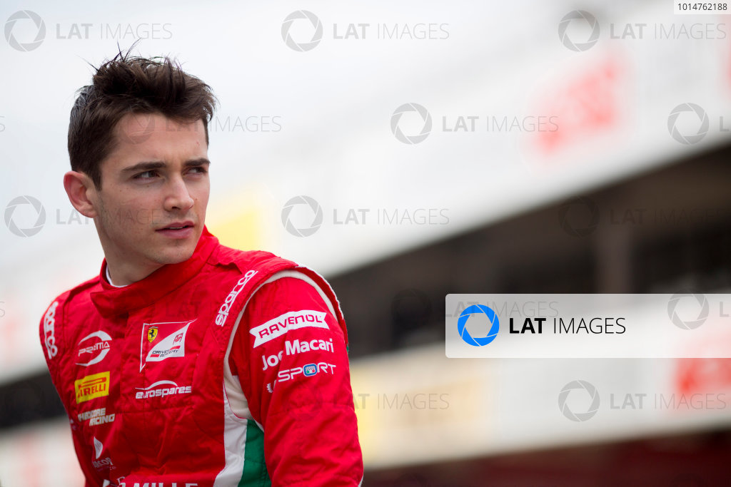 Circuit de Barcelona Catalunya, Barcelona, Spain. Monday 13 March 2017. Charles Leclerc (MON, PREMA Racing). Photo: Alastair Staley/FIA Formula 2 ref: Digital Image 580A9281