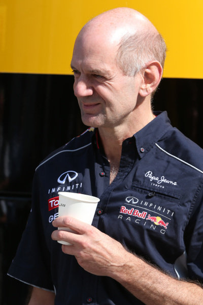 Adrian Newey (GBR) Red Bull Racing Chief Technical Officer. Formula One World Championship, Rd9, German Grand Prix, Qualifying, Nurburgring, Germany, Saturday 6 July 2013.