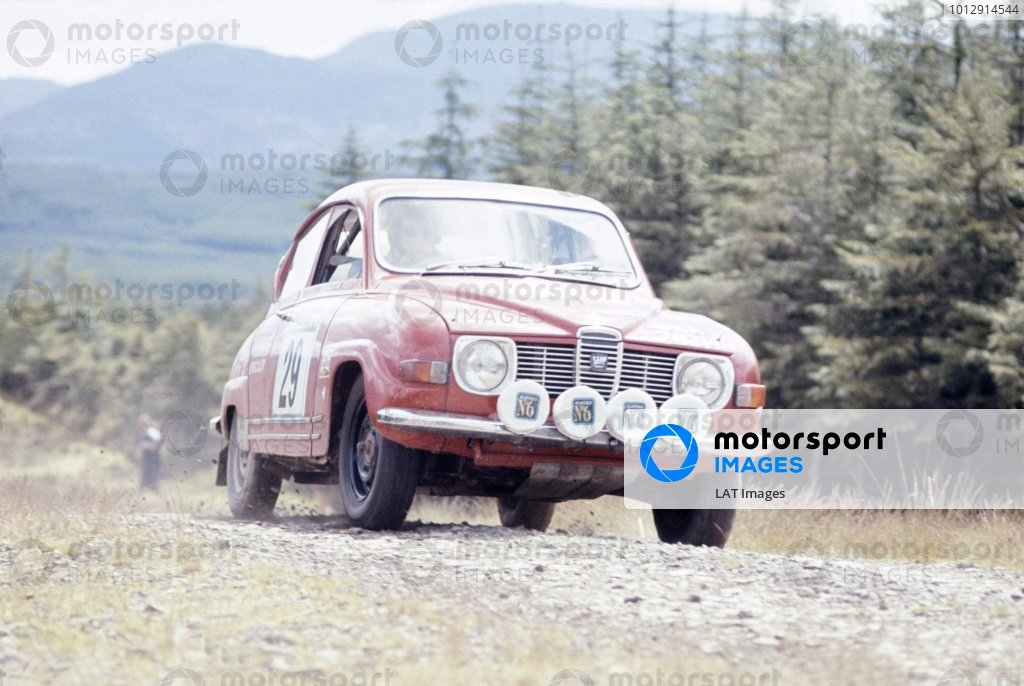 1973 British Rally Championship.Scottish Rally, Scotland, Great Britain. 2-6 June 1973.Alastair Robertson (SAAB V4).World Copyright: LAT PhotographicRef: 35mm transparency 73RALLY09