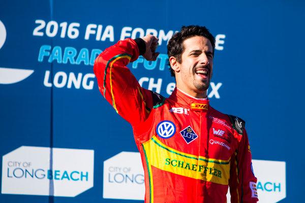 2015/2016 FIA Formula E Championship. Long Beach ePrix, Long Beach, California, United States of America. Sunday 3 April 2016. Lucas Di Grassi (BRA), ABT Audi Sport FE01. Photo: Zak Mauger/LAT/Formula E ref: Digital Image _79P6748