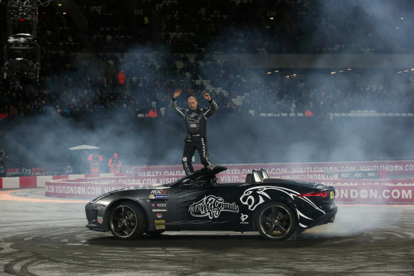 2015 Race Of Champions Olympic Stadium, London, UK Saturday 21 November 2015 Terry Grant does some donuts Copyright Free FOR EDITORIAL USE ONLY. Mandatory Credit: 'IMP'