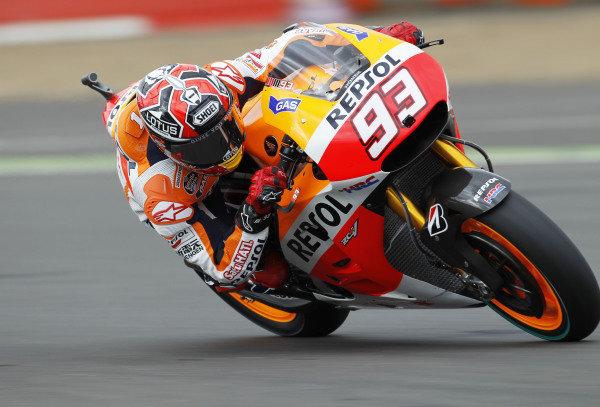 2014 MotoGP Championship  British Grand Prix.  Silverstone, England. 29th - 30st August 2014.  Marc Marquez, Honda.  Ref: _W1_5374. World copyright: Kevin Wood/LAT Photographic