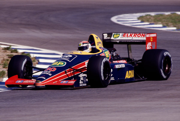 1988 Spanish Grand Prix.Jerez, Spain.30/9-2/10 1988.Philippe Alliot (Larrousse/Lola LC88 Ford) 14th position.Ref-88 ESP 29.World Copyright - LAT Photographic