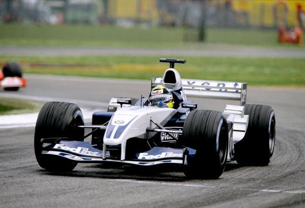 2003 San Marino Grand PrixImola, Italy. 18th - 20th April 2003.Ralf Schumacher, BMW Williams FW25, race action.World Copyright: LAT Photographicref: 35mm Image A09