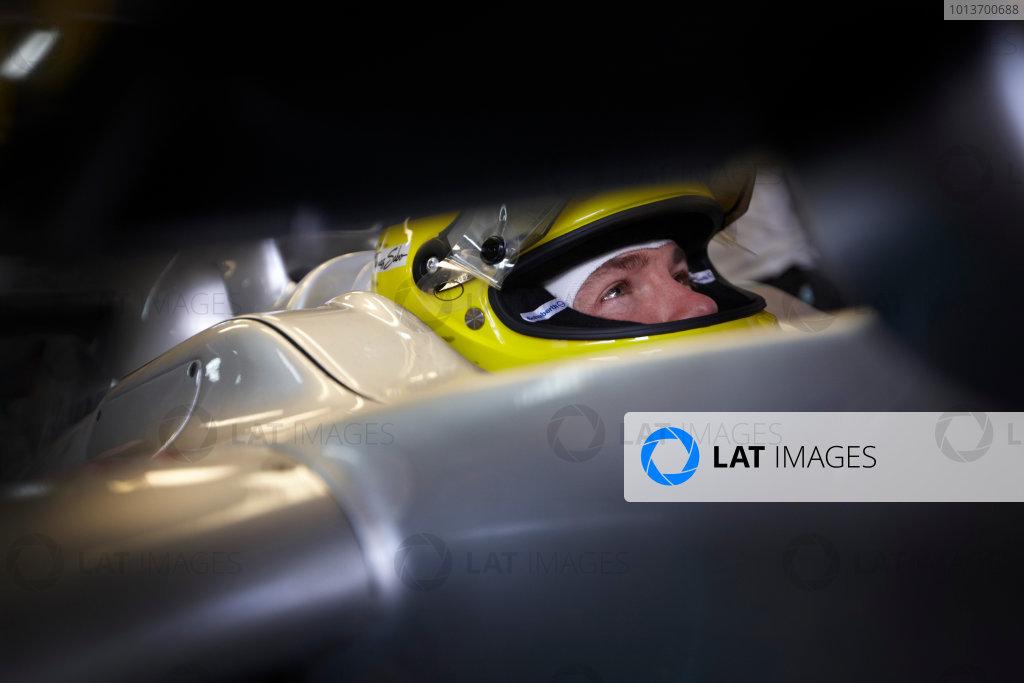 Interlagos, Sao Paulo, Brazil. 26th November 2011. Nico Rosberg, Mercedes GP W02. Portrait. Helmets.  World Copyright: Steve Etherington/LAT Photographic ref: Digital Image SNE24738