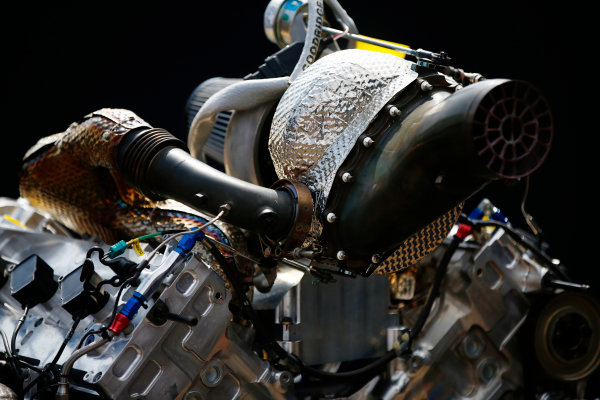 Autodromo Nazionale di Monza, Italy. Thursday 31 August 2017 The new F2 engine. Photo: Andrew Hone/FIA Formula 2 ref: Digital Image _ONZ0375