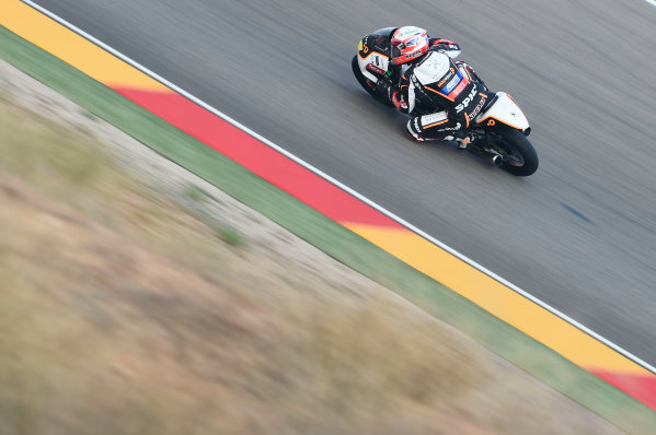 2017 Moto3 Championship - Round 14 Aragon, Spain. Saturday 23 September 2017 Jakub Kornfeil, Peugeot MC Saxoprint World Copyright: Gold and Goose / LAT Images ref: Digital Image 13944