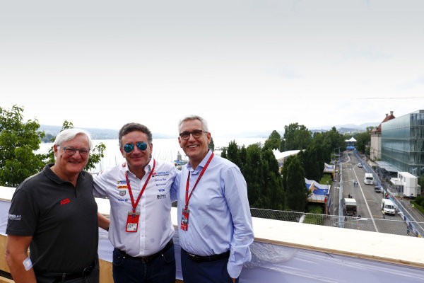 Alejandro Agag, CEO, Formula E, with Ulrich Spiesshofer, Cheif Executive Officer, ABB.