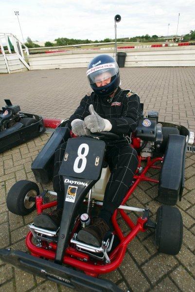 Nick Davies (RSA) Slipstream Interactive finished seventeenth.Sutton Motorsport Images Annual Karting Grand Prix; Daytona International Raceway, Milton Keynes, England, 24 July 2003.DIGITAL IMAGE
