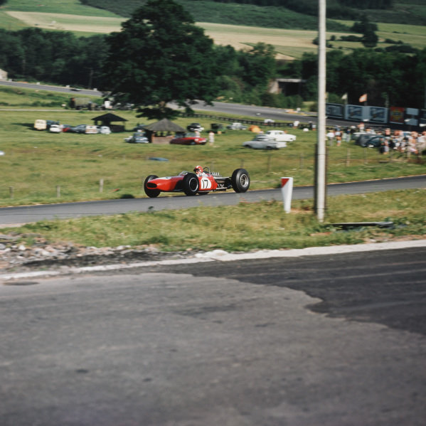 Spa-Francorchamps, Belgium.12-14 June 1964.  Jo Siffert (Brabham BT11 BRM), at the exit of Stavelot.  Ref-3/1254.World Copyright - LAT Photographic
