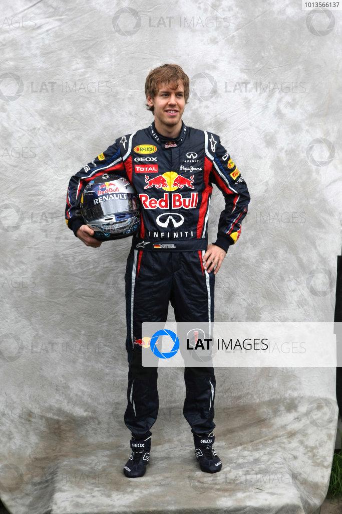 Albert Park, Melbourne, Australia24th March 2011.Sebastian Vettel, Red Bull Racing RB7 Renault. Portrait. World Copyright: LAT Photographicref: Digital Image2_LC1232